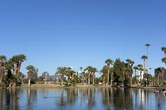 Encanto Park Lake, Phoenix downtown, AZ Royalty Free Stock Images
