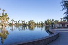 Encanto Park Lake, Phoenix downtown, AZ Royalty Free Stock Image
