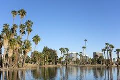 Encanto Park Lake, Phoenix downtown, AZ Stock Photo