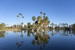 Encanto Park Lake, Phoenix downtown, AZ Stock Image