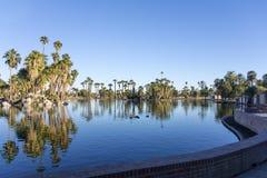 Encanto Park Lake, Phoenix downtown, AZ Stock Photography