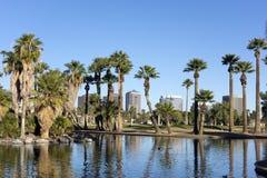 Encanto Park Lake, Phoenix downtown Royalty Free Stock Photo