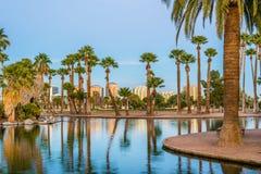Encanto-Park in Phoenix bei Sonnenuntergang lizenzfreie stockfotos