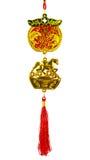 Encanto rico del estilo chino en el fondo blanco Fotografía de archivo libre de regalías