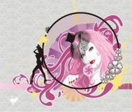 Encanto rosado stock de ilustración