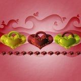Encantos en forma de corazón Imágenes de archivo libres de regalías