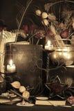 Encantos mágicos negros Encantos de Wiccan Fotografía de archivo