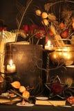 Encantos mágicos negros Encantos de Wiccan Fotos de archivo libres de regalías