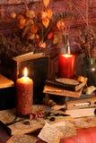 Encantos mágicos negros Encantos de Wiccan Foto de archivo libre de regalías