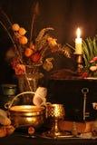 Encantos mágicos negros Los encantos mágicos negros reales con poder virtualmente ilimitado echaron para usted: Cuando otra magia imagen de archivo libre de regalías