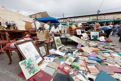 Encants Vells loppmarknad i Barcelona Arkivbild