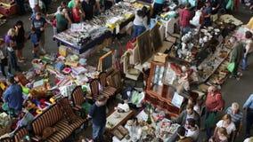 Encants Vells market in Barcelona. BARCELONA, SPAIN - OCTOBER 8, 2016: New building of Encants Vells market in Barcelona, Spain. This is one of the oldest