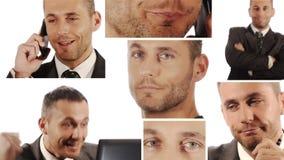 Encargado Collage del hombre de negocios almacen de video