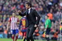 Encargado de Luis Enrique Martinez del FC Barcelona Imagenes de archivo