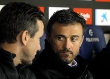 Encargado de Luis Enrique MartinezR del FC Barcelona Fotografía de archivo
