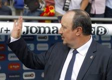 Encargado de Rafael Benitez del Real Madrid Foto de archivo libre de regalías