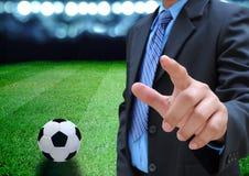 Encargado del fútbol Imagenes de archivo
