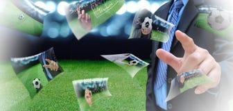 Encargado del fútbol Foto de archivo libre de regalías