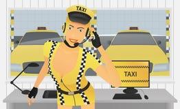 Encargado del taxi en oficina Fotografía de archivo libre de regalías