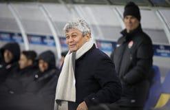 Encargado Mircea Lucescu del FC Shakhtar Donetsk Imagen de archivo libre de regalías