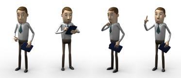 Encargado. personaje 3d. ilustración del vector