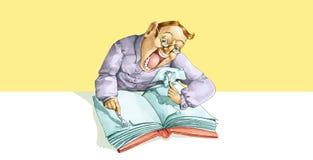 Encariñado con la lectura ilustración del vector