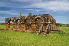 Руины Encarnacion и иезуита в Парагвае Стоковые Фотографии RF