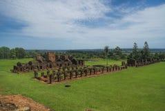 Encarnacion och jesuiten fördärvar i Paraguay Arkivfoton