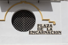 Encarnacion square. In Seville, Andalusia, Spain Stock Photography