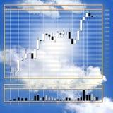 Encarregado da moeda da folha de dados em cima do mercado de finança imagem de stock