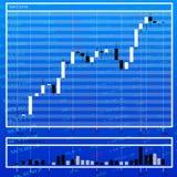 Encarregado da moeda da folha de dados em cima do mercado de finança fotos de stock
