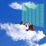 Encarregado em cima do mercado monetário do céu imagens de stock
