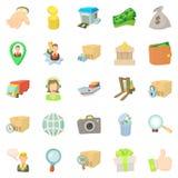 Encashment icons set, cartoon style Stock Photo