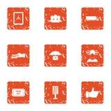 Encashment icons set, grunge style. Encashment icons set. Grunge set of 9 encashment vector icons for web isolated on white background Royalty Free Stock Image