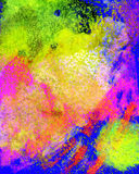 The encaustic backdrop is drawn with wax crayons, colorful imag. E for print and web stock illustration