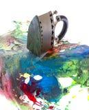An encaustic colors Stock Photo