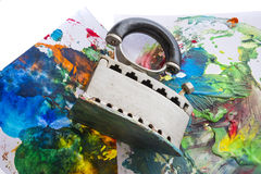 An encaustic colors Royalty Free Stock Image