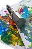An encaustic colors Stock Images