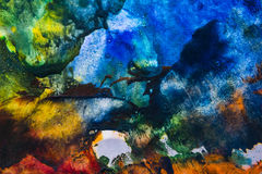An encaustic colors stock image