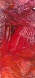 Encaustic red banner. Red vertical banner with artistic encaustic effect vector illustration