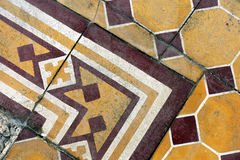 Encaustic tile of the terrace of the Martinelli building. SAO PAULO, SP, BRAZIL - MAY 23, 2015 - Encaustic tiles of the terrace of the Martinelli building, the Royalty Free Stock Photo