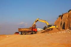 Encavateur d'excavatrice photo libre de droits