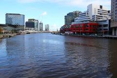 Enceinte des quartiers des docks de Melbourne Photographie stock