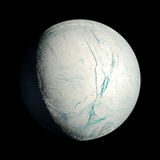 Enceladus planet isolated Royalty Free Stock Photo