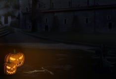 Encenação assustador de Dia das Bruxas Imagem de Stock Royalty Free