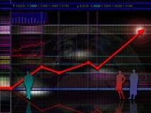 Encenação moderna e/ou futurista abstrata da carta do estoque e do mercado Foto de Stock Royalty Free