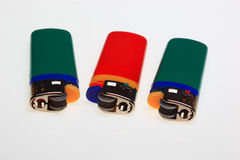 Encendedor, chimeneas de gas del plástico Fotografía de archivo