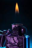 Encendedor del metal Imagenes de archivo