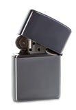 Encendedor del metal plateado aislado Foto de archivo