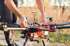 Encender el helicóptero Imágenes de archivo libres de regalías